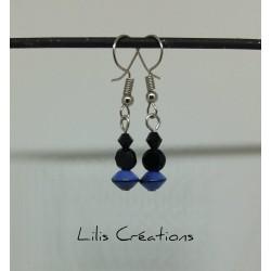 Boucles d'oreilles bleu,...