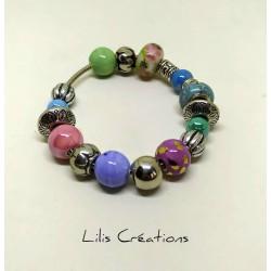 Bracelet en perles tons...