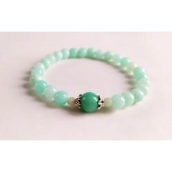 "Bracelet ""Amazonite"" vert..."