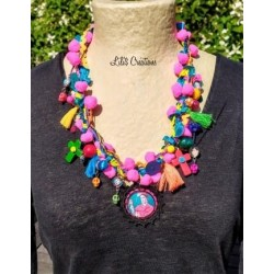"Collier ""Frida"" multicolore"