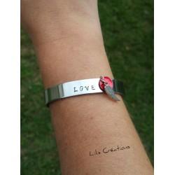 "Bracelet ""LOVE"" gravé à la..."
