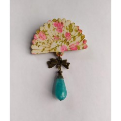 "Broche XL ""Eventail fleuri""..."