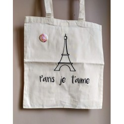 "Tote-bag ""Paris Je t'aime"""""