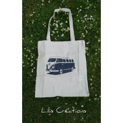 "Sac Tote-bag ""Combi VW"" écru"