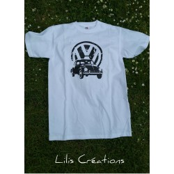 """T-shirt homme """"VW"""", manches..."""